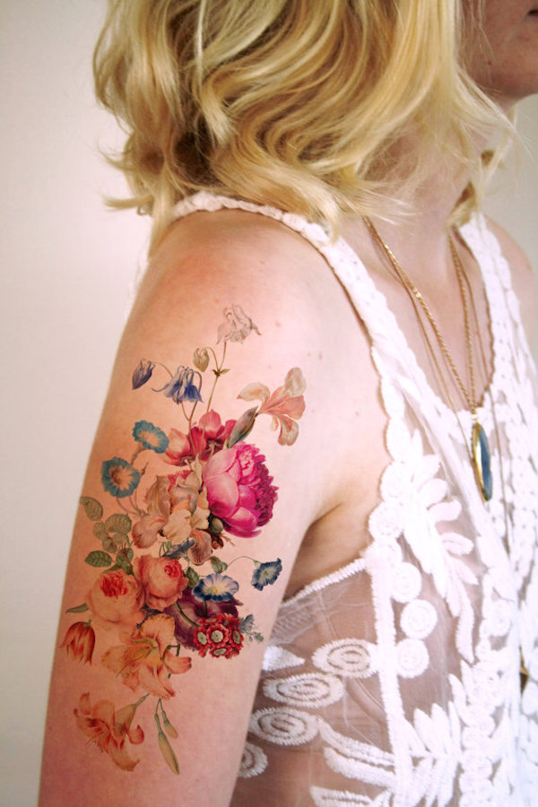 Flower Tattoo Designs For Women Unique: Accessorize Your Outfit With These Temporary Elegant