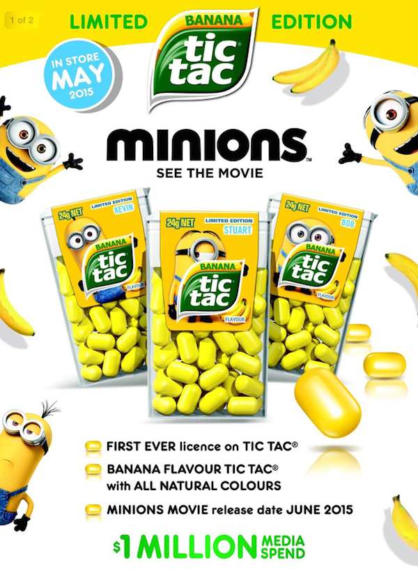 Cute Banana Flavored Yellow Tic Tacs That Look Just Like