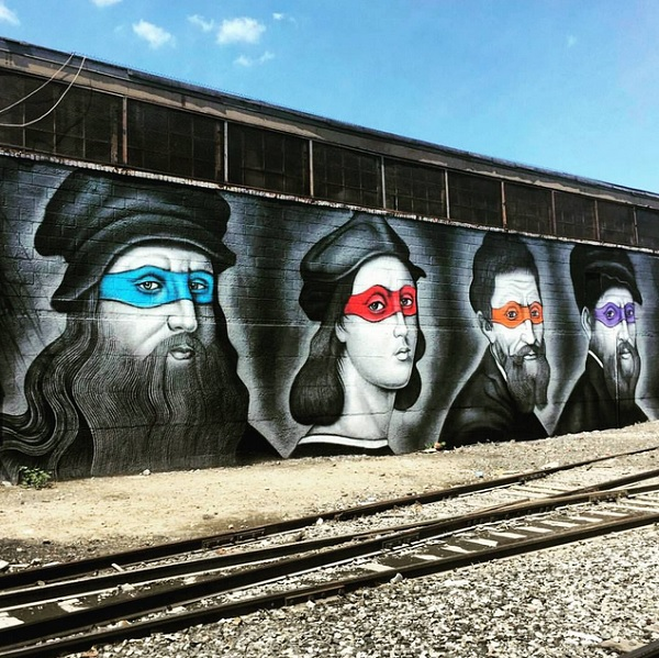 Pity, that Mutant ninja turtle graffiti