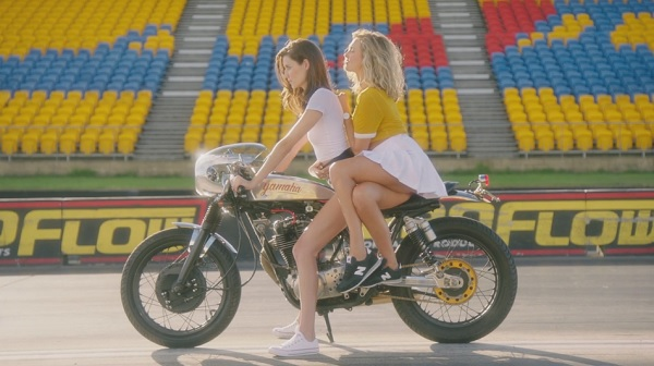 Nude girls ridin motorcycles video