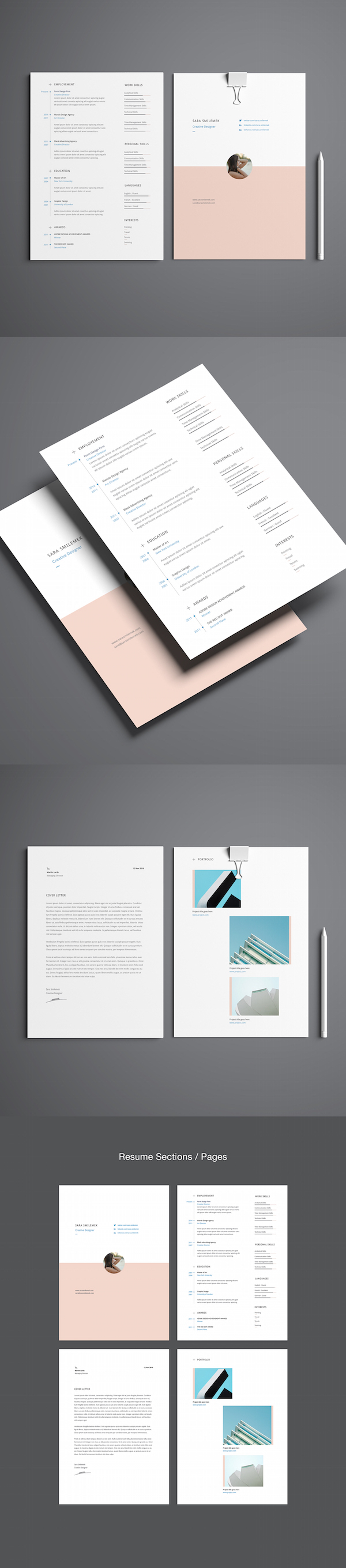 for creatives tasteful minimal cv portfolio template puts focus head over here to this template for