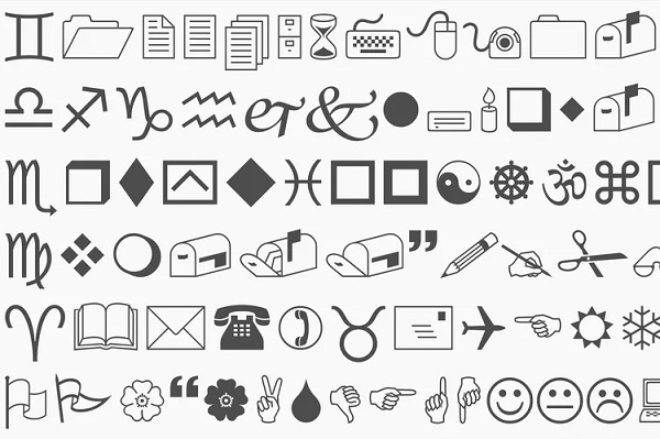 The Story Behind The Quirky Wingdings Font That Is Made Entirely Of
