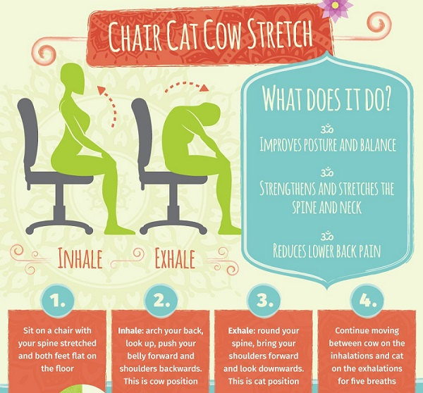 Infographic Five Office Friendly Yoga Poses You Can Do At Your