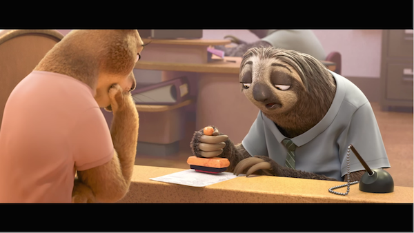 Hilarious New Trailer For Disney S Zootopia Features A Painfully Slow Sloth Designtaxi Com