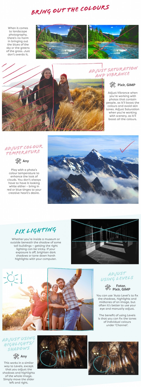 Infographic: Eight Image Editing Tips That Might Save Your Travel Photos