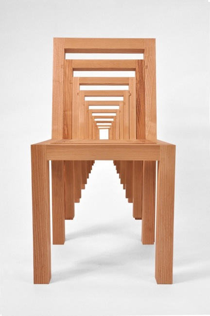 The Chair In Fact Comprises Many Smaller Versions Of Itself, Stacked  Together Via Carefully Placed Grooves: