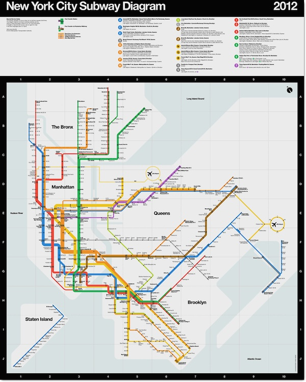 Updated Subway Map.For Sale Signed Posters Of Massimo Vignelli S Updated Nyc Subway