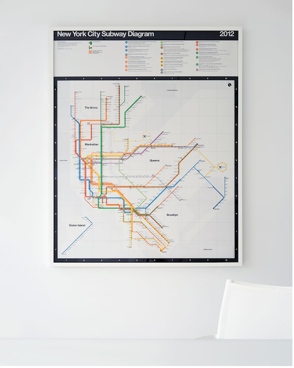 Nyc Subway Map Massimo Vignelli.For Sale Signed Posters Of Massimo Vignelli S Updated Nyc Subway