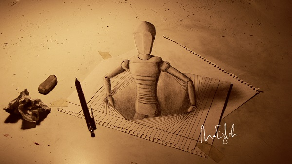 Inspiration how to draw 3d art for 3d drawing website