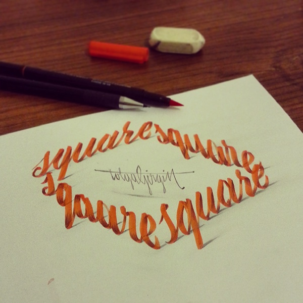 More Amazing 3d Calligraphy That Seems To Pop Out From