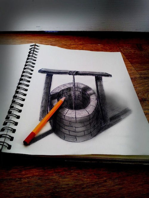 Artist Sketches Amazing 3d Illusion Drawings