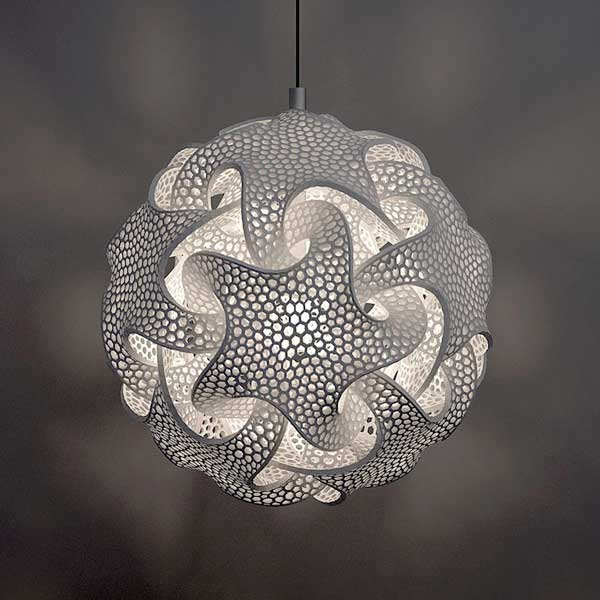 Symmetrical 3D Printed Lamps Based On Geometric Shapes