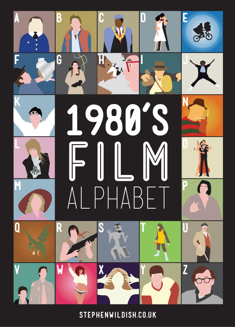 The 90s and 80s film alphabet movie knowledge