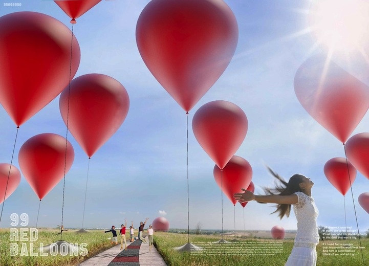99 Giant Red Balloons Produce Enough Clean Energy To Power 4,500