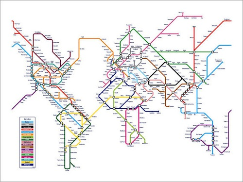 Abstract Map Of The World.Maps Of The World Inspired By Abstract Art Designtaxi Com