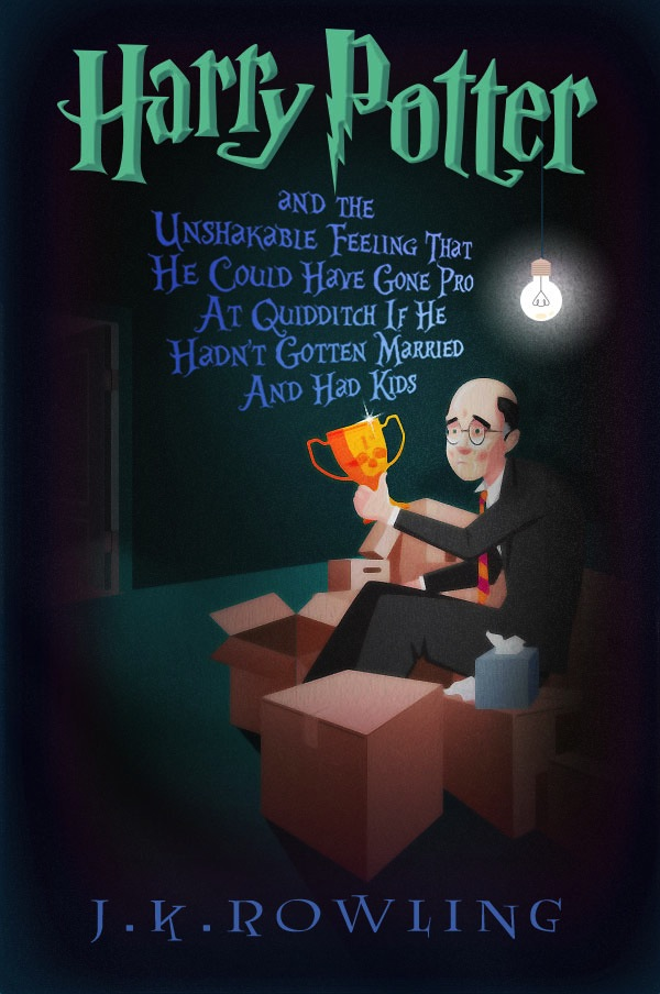 Harry Potter Book Titles : Funny book titles imagine the life of a middle aged 'harry