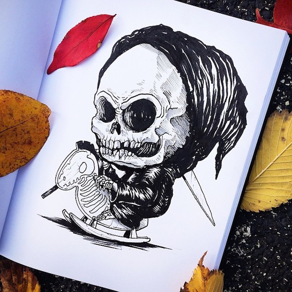 Liam Thinks Popular Horror Movie Characters Illustrated As