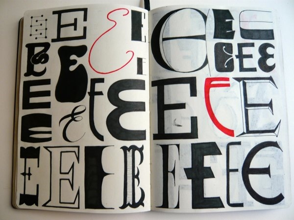 a beautiful sketchbook series of hand lettered alphabet in different styles. Black Bedroom Furniture Sets. Home Design Ideas