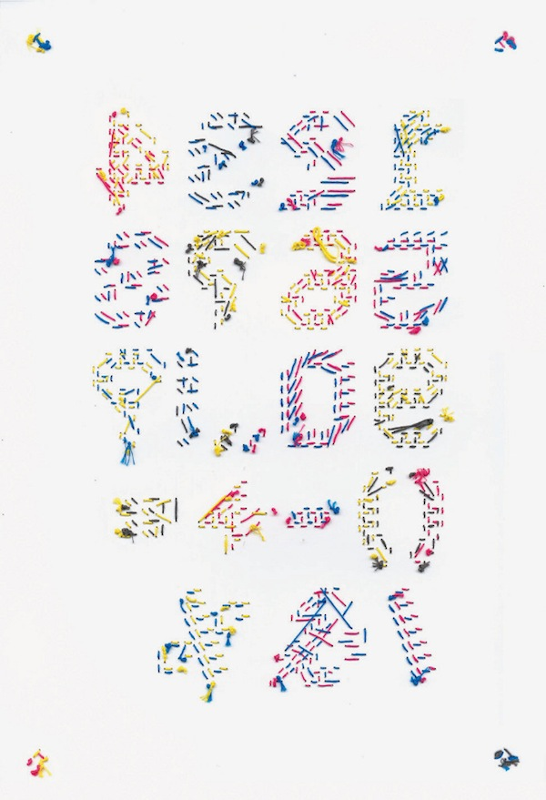 Typographic Embroidery Beautiful Hand Stitched Alphabets