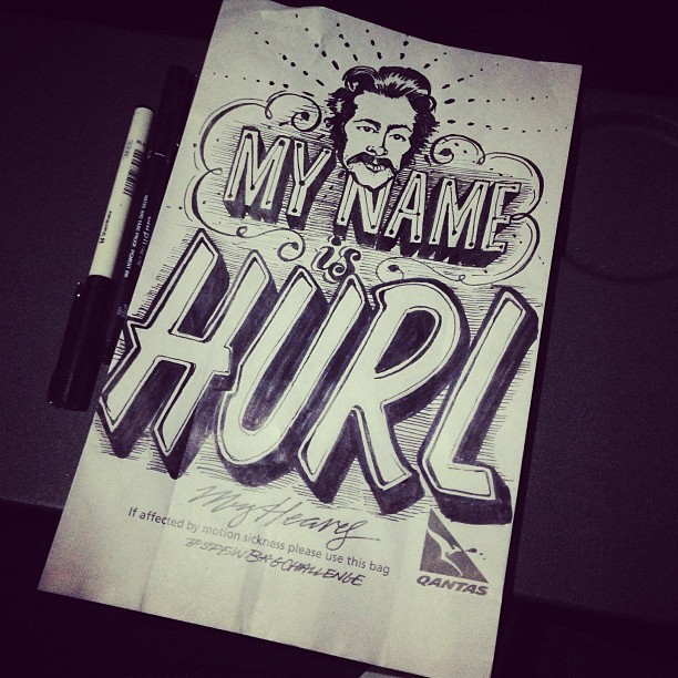 Humorous Puking Puns Illustrated On Barf Bags Designtaxi Com
