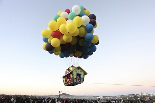 Disney Pixar's 'Up' Flying Balloon House In Real Life ...