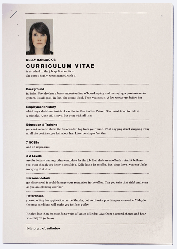 clever resume print ads highlight the discrimination faced by ex-convicts