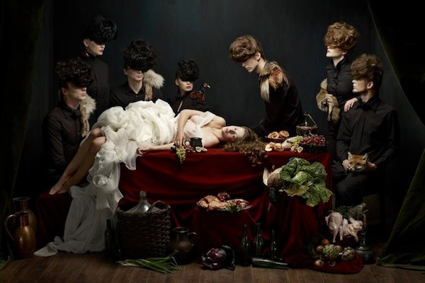 photo series inspired by baroque still life paintings