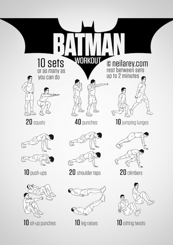 Simple 'Batman Workout' Exercises To Turn You Into Your Favorite Superhero