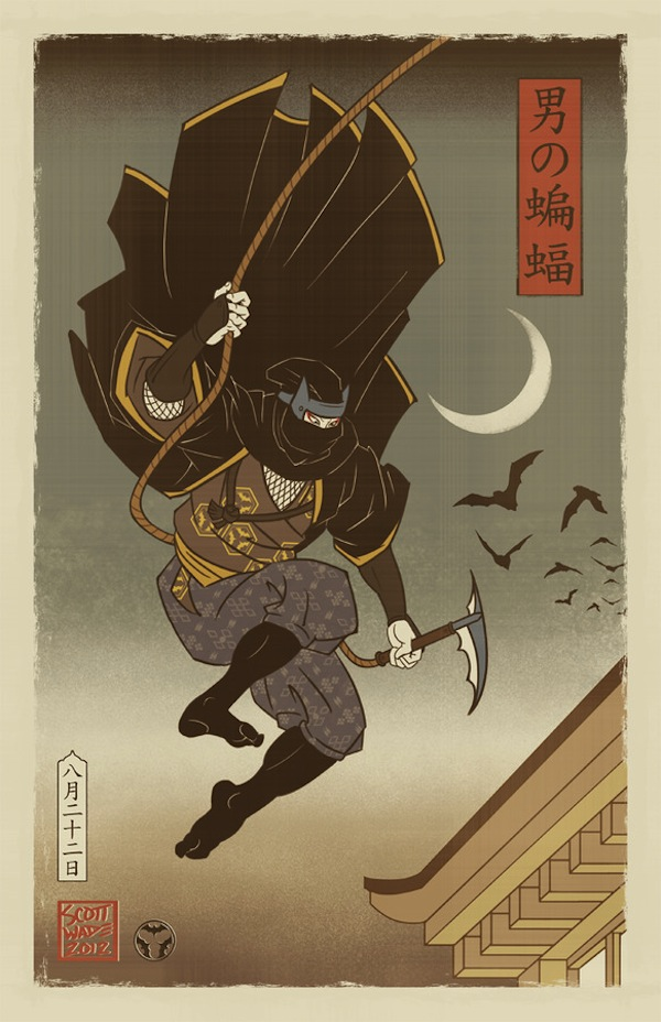 Batman Imagined In The Style Of Medieval Japan ...