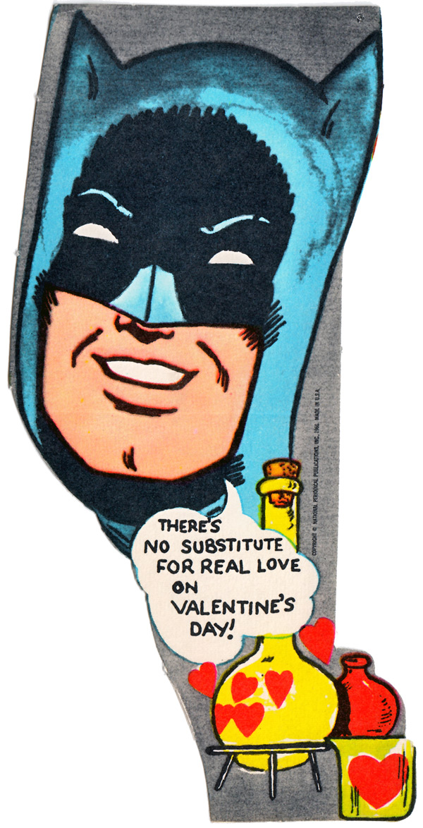 For Comic Book Lovers Vintage Batman Valentines From