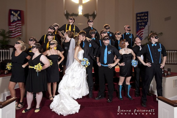 Batgirl nightwing tie the knot in this awesome batman for Doctor who themed wedding dresses