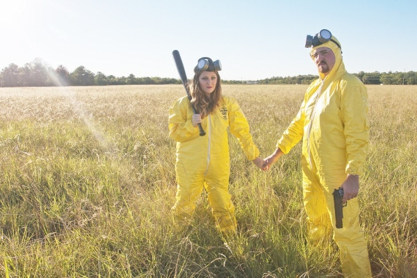 Couple Reenact Breaking Bad In Creative Engagement Photo Shoot