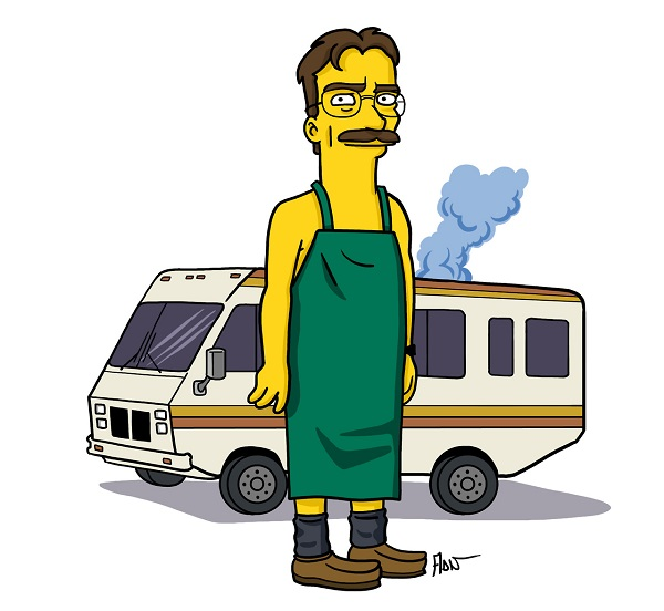 'Breaking Bad' Characters Drawn Like 'The Simpsons ...
