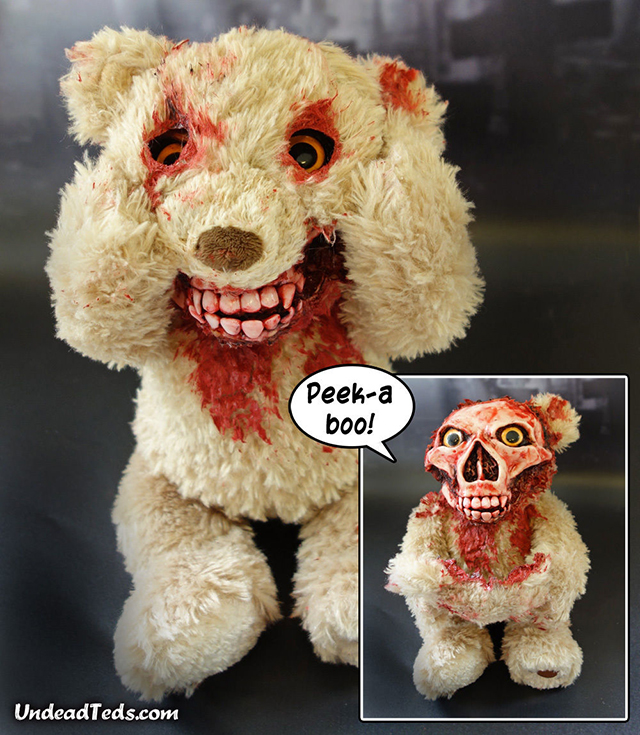 This Horrifying Teddy Bear Rips Its Face Off When Playing