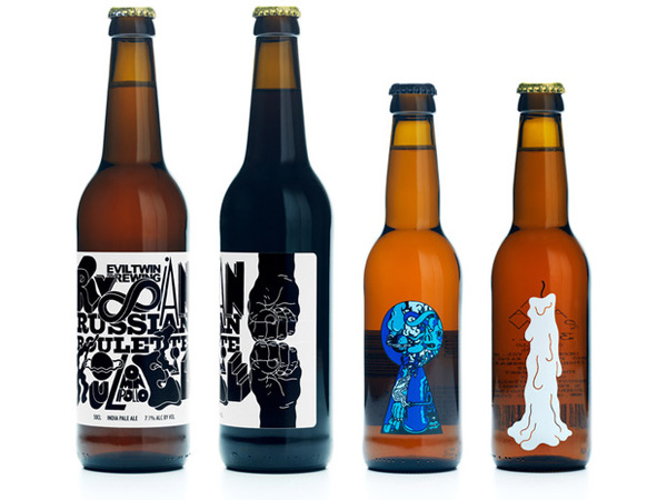designer turns his daydreams into psychedelic beer bottle