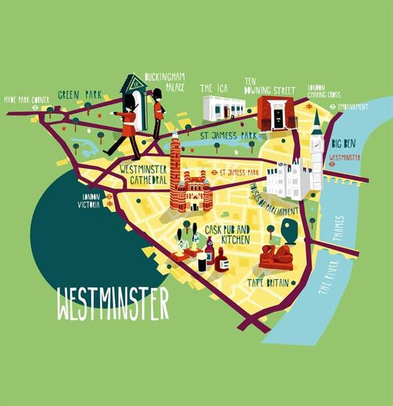 Lovely Illustrated London Maps Point You To Must Visit