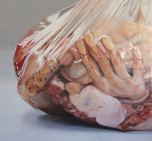 hyperrealistic gory paintings of mutilated human body parts nsfw