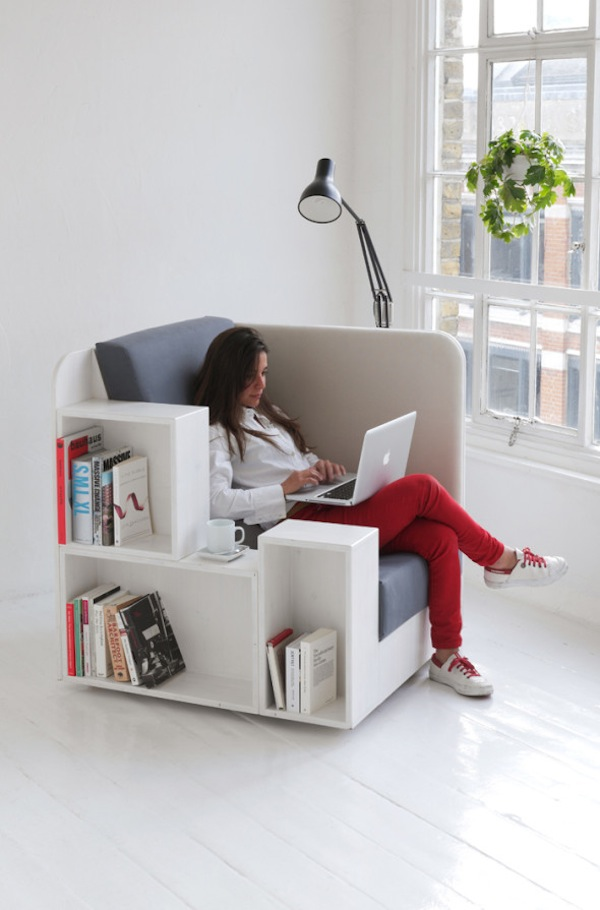 London-based design studio TILT has created a chair thatu0027s a library at the same time. & A u0027Bookshelf Chairu0027 For Book-Lovers To Store More Books ...