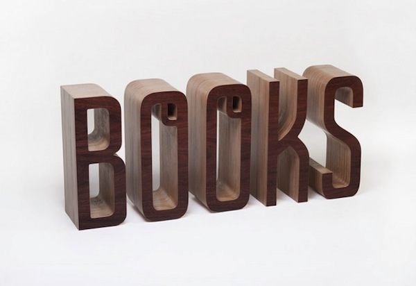 A Wonderful Typographic Bookshelf That Spells Out The Word