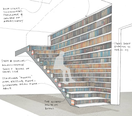 Stair Bookshelf for book lovers, a staircase that doubles as a bookcase