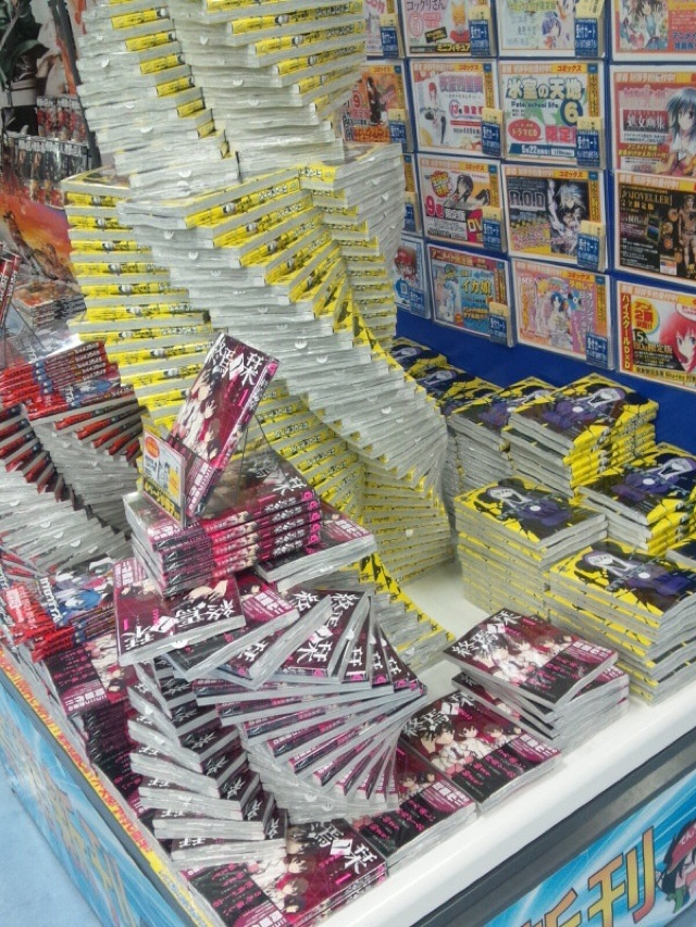 In Japan Bookstores Stack Their Goods Into Elaborate