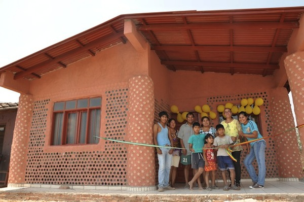 Innovative 39 garbage 39 houses made of recycled plastic bottles - How to build an alley out of reused bricks ...