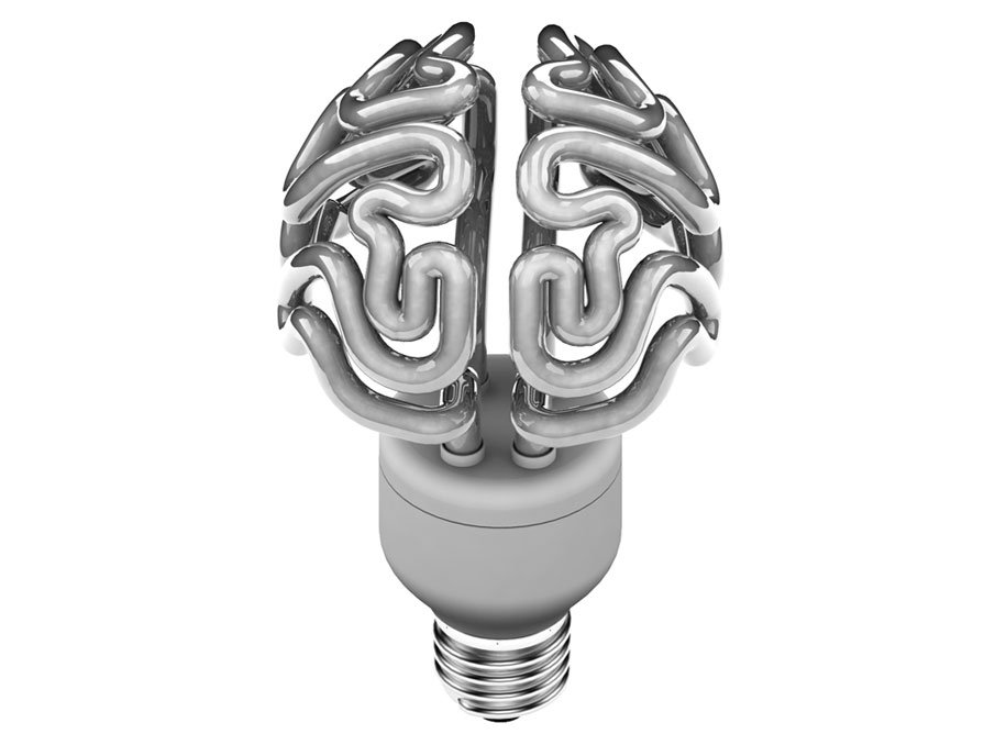 A Quirky Light Bulb That Looks Like A Glowing Human Brain