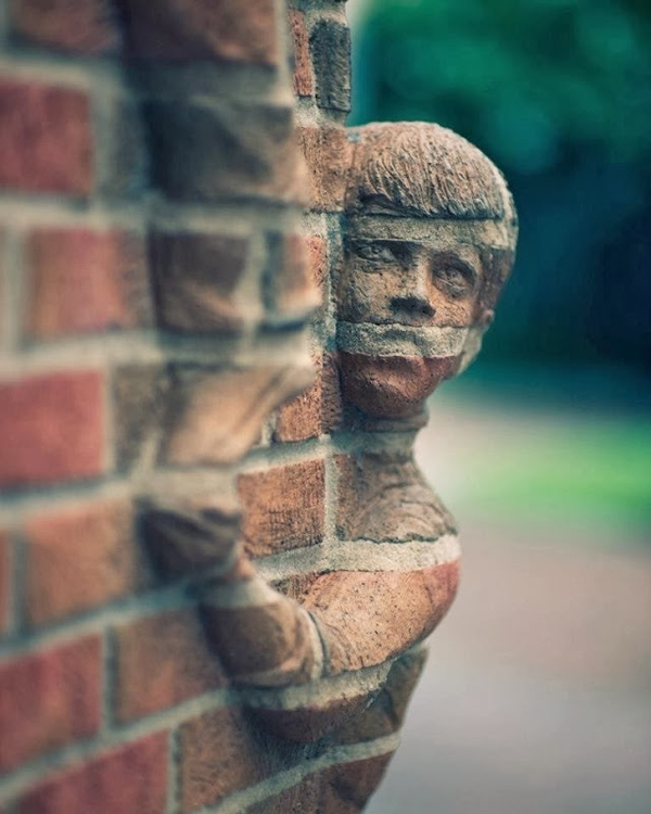 Unusual sculptures carved entirely out of bricks for 3d art sculpture ideas
