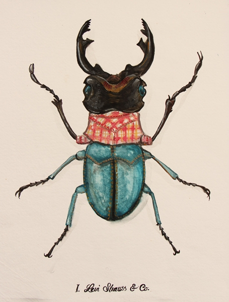Illustrator creates urban bugs lookbook of insects in for I like insects shirt