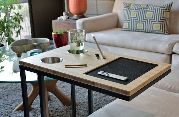 Minimalist Tech Savvy Side Table Lets You Work
