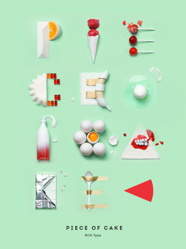 Cake Design Letters : Delicious-Looking Letters Formed With Lollipops, Cake, Ice ...