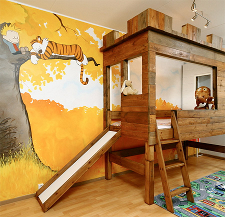 a charming bedroom inspired by calvin hobbes for a