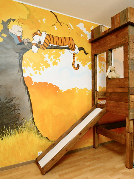 A Charming Bedroom Inspired By Calvin Hobbes For A Lucky