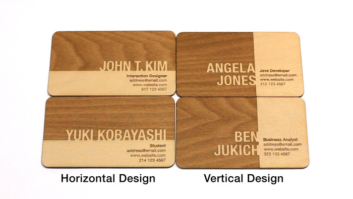 Engraved wooden business cards let you stand out from the engraved wooden business cards let you stand out from the competition reheart Choice Image